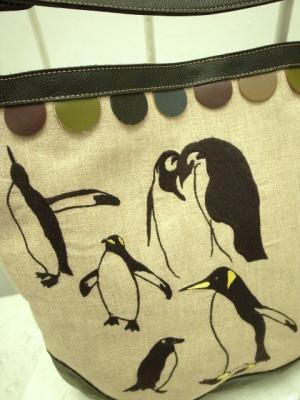 ペンギンズ刺繍