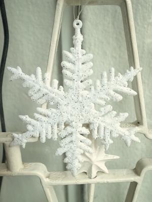 クリスマス雪の結晶飾り