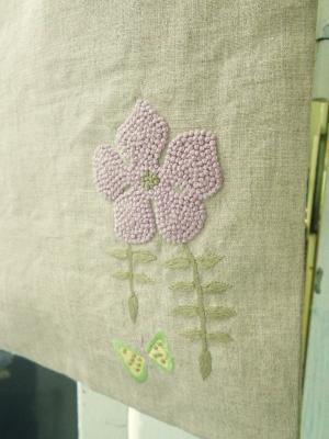 手刺繍、A4トートバッグ