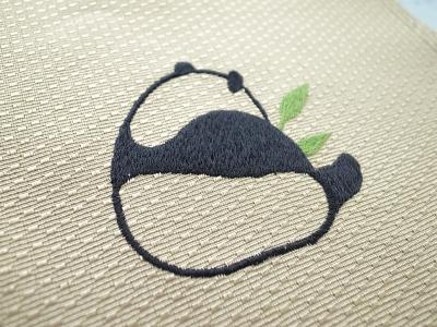 パンダ刺繍