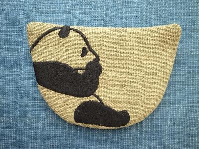刺繍、パンダ
