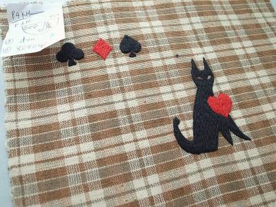 恋する猫刺繍