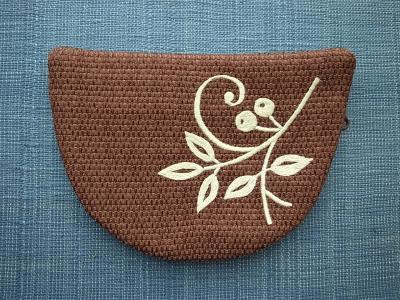 刺繍、葉っぱ