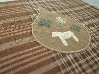 ダーラナホース刺繍