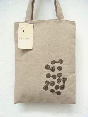 刺繍、A4トートバッグ