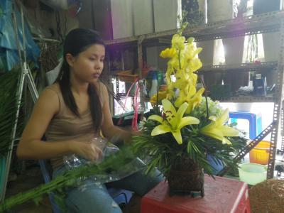 ホーチミンの花屋」