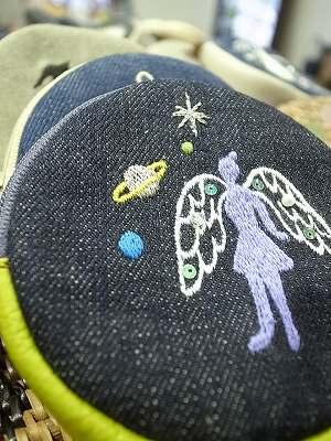土星と天使のソランちゃん刺繍