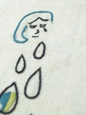 泪ポロポロ刺繍