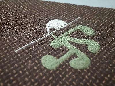 アリクイ刺繍