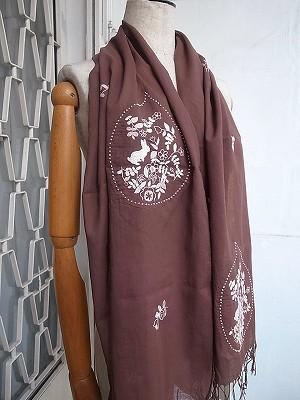 うさぎガーデン刺繍