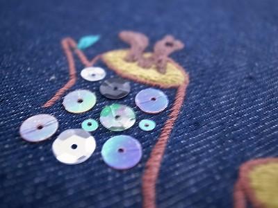 森の熊さんリスさん刺繍