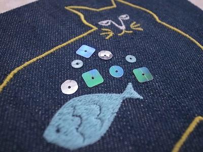 ボス猫刺繍