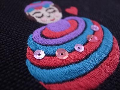 コマちゃん刺繍