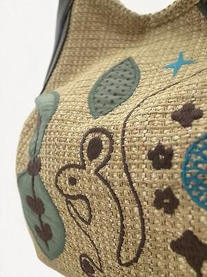 リス刺繍 グラニーバッグ