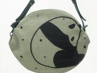 パンダ刺繍 ショルダーバッグ