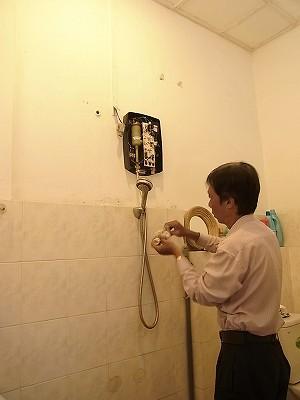 温水器の修理