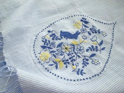 『うさぎガーデン刺繍』ストール
