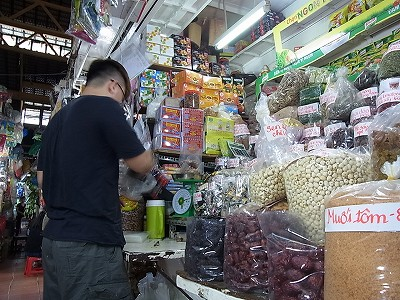 タンディン市場の乾物屋さん