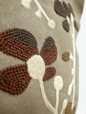 『シメジの花刺繍』