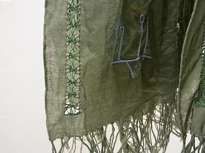 ドロンワーク刺繍ストール
