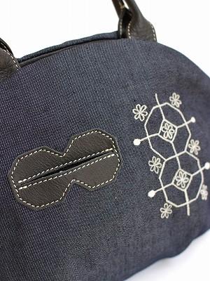 コットンレース刺繍・アーモンドバッグ