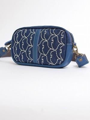 『渡り鳥刺繍』ショルダーポーチ