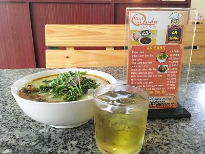 ベトナムのうなぎ粥