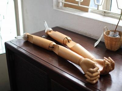 木製のトルソーの腕