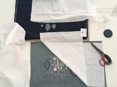 パンガンダランpangandaran丸いショルダーバッグの刺繍