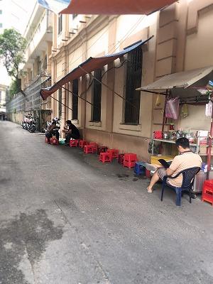 おしゃれな路上カフェ in ホーチミン