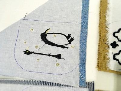 ショルダーポーチ刺繍