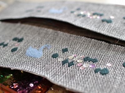『キラキラ湖刺繍』ビーズ付き