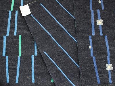 ユニセックスな線の刺繍