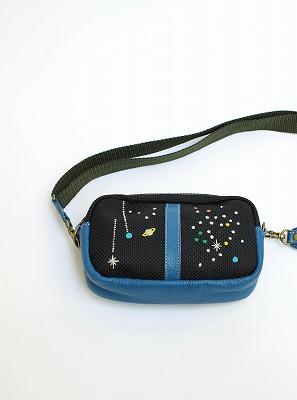 宇宙刺繍ショルダーポーチ