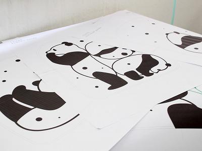 パンダの図案