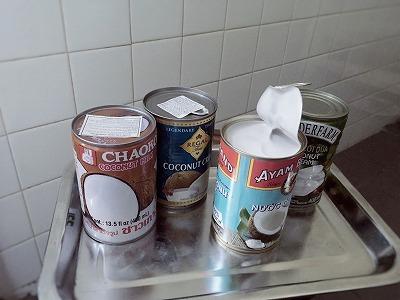 ベトナムのココナッツミルク缶