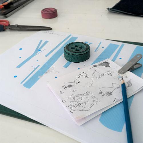 赤ずきんちゃん刺繍
