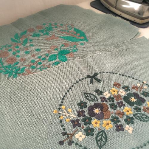 パンジー刺繍