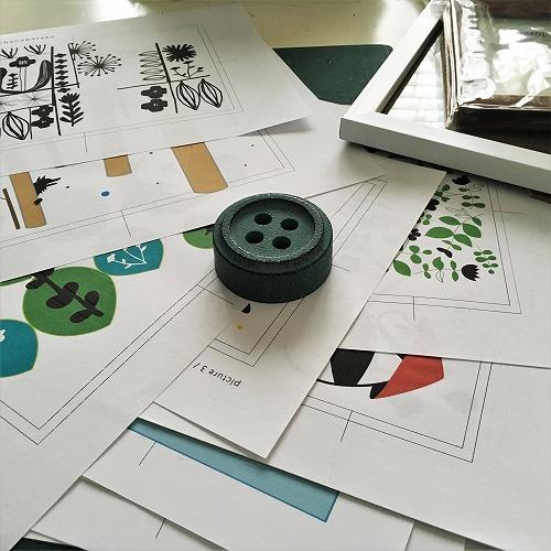 刺繍絵の製作