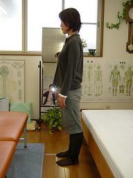 奈美さんの姿勢