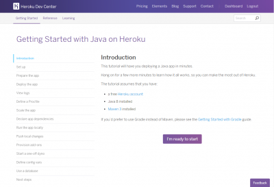HEROKU Getting Started with Java on Heroku