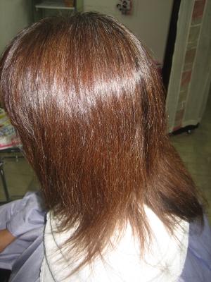クセが伸びていない縮毛矯正の失敗 ダメージヘア