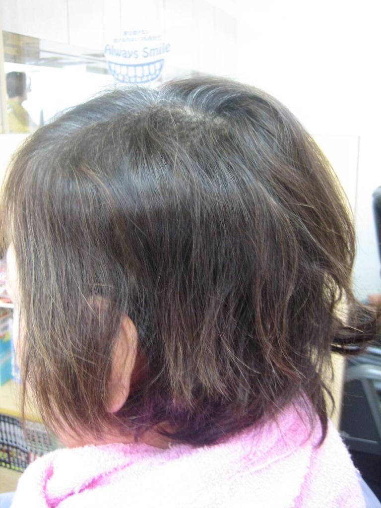 髪の太さが細い女性のヘアスタイル 60代 70代