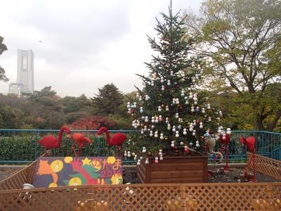野毛山動物園のクリスマスツリー