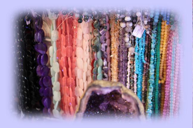 100種類オーバール形状のアクセサリーデザイン天然石の連売り、ばら売り