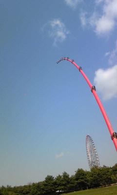 竿で凧揚げ