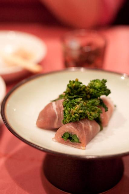 松花江-菜の花の生ハム巻き