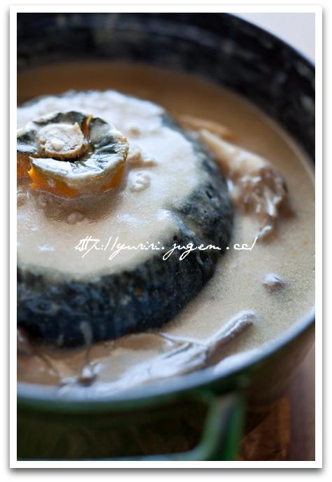 20101011-カボチャのひき肉詰め茸ソース煮込-6.jpg