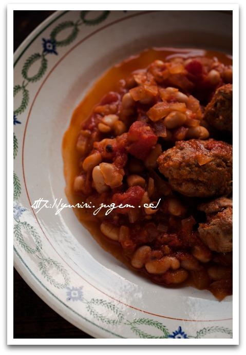 20110217白いんげんと手作りソーセージのトマト煮込み-2.jpg