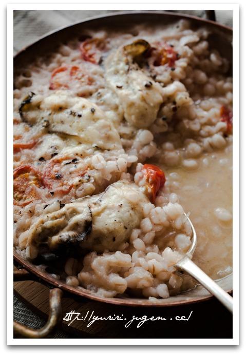 20110223押し麦の牡蠣リゾット風-2.jpg